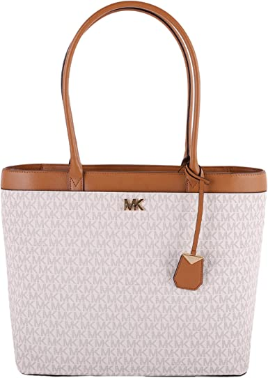Michael Kors Maddie Large NS Pocket Business Tote PVC Signature Vanilla