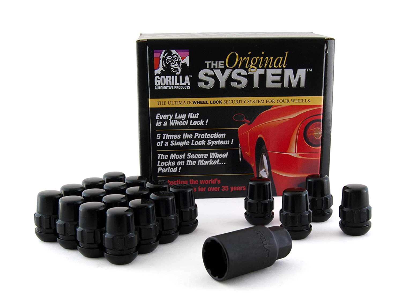 Gorilla Automotive Products 38433XLBC Black Wheel Lock System, Set of 20 (Chrome Ball Seat 12mm x 1.50 Thread)