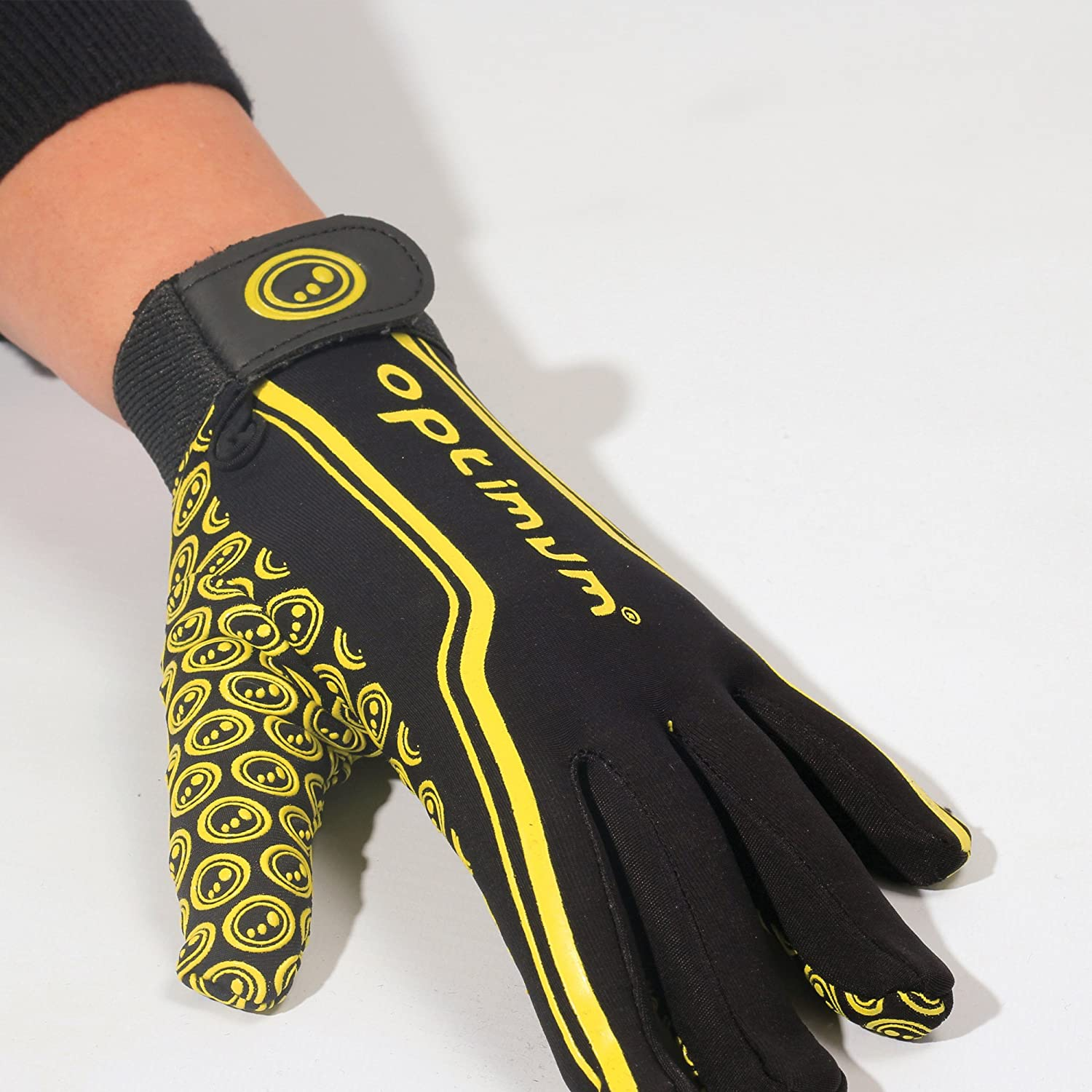 Black//Yellow X-Small Optimum Junior Velocity Rugby Gloves LB