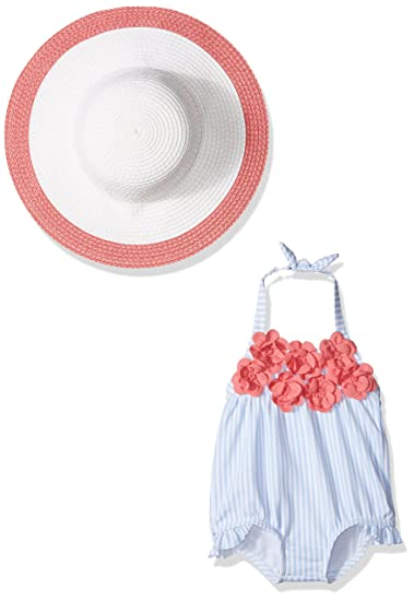 750514a6a Amazon.com: Janie & Jack Girls' Layette Rosette Swim W/hat: Clothing