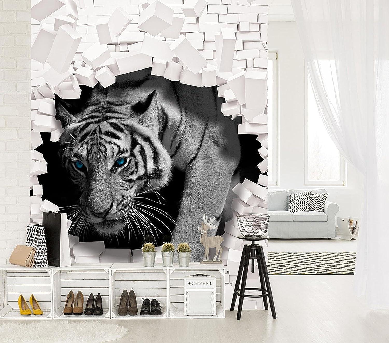 Fototapete Tapete Wandbild Vlies F410400/_VE Photo Wallpaper Mural 3D Tiger kommt