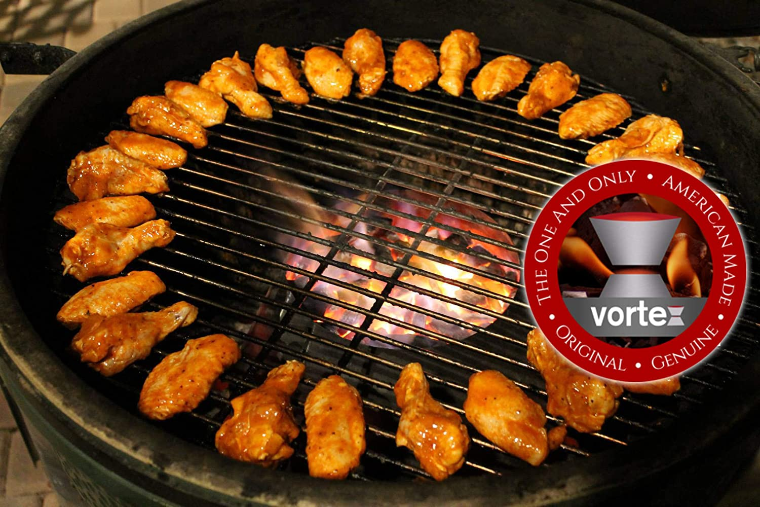 BBQ Vortex for Weber Kettle 22 26 75 WSM smokey mountain Medium Kamado Big  Green Egg