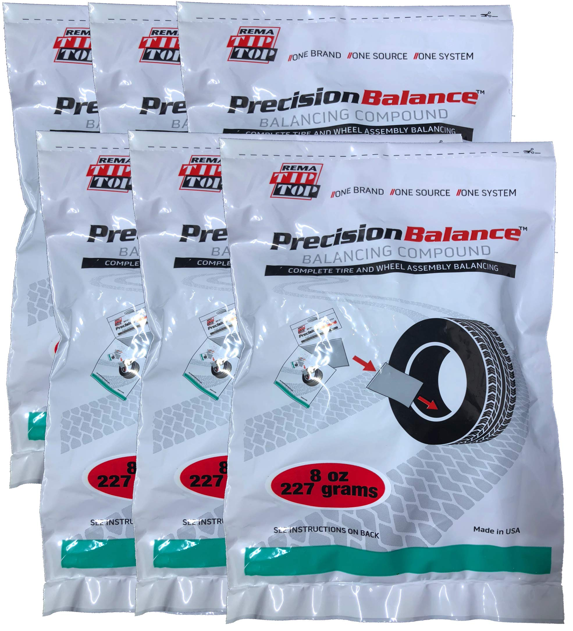 Rema Tip Top 6 PrecisionBalance Tire Balancing Compound Beads Kits - Drop in Bags - (8 oz. / 227 Grams) - (6 Kits) by Rema Tip Top