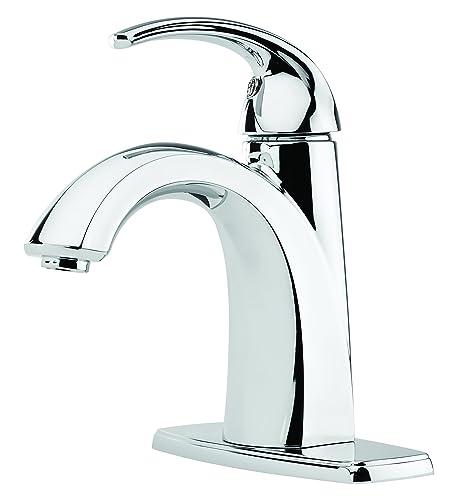 Pfister F-042-SL Selia Single Hole Bathroom Sink Faucet, Polished Chrome