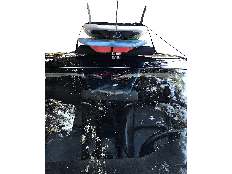 con funda de almacenamiento. baca universal port/átil COR Surf para transportar tablas de surf y tablas de SUP Portaequipaje