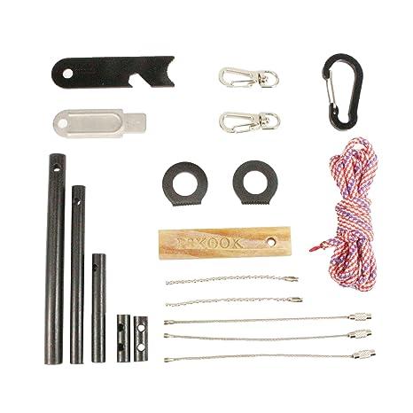 Amazon.com : PSKOOK Fire Starter Survival Tool Ferro Rod Flint Steel ...