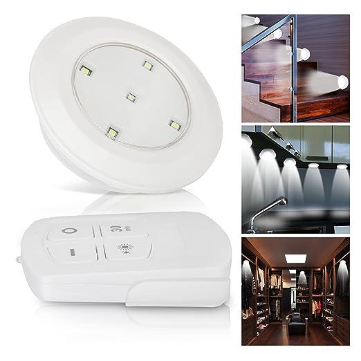 Oramics - SET di 6x Faretti con Luce LED, Regolabili con Telecomando ...
