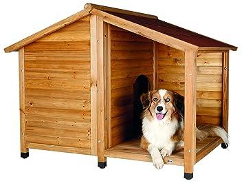Trixie - Caseta Madera Natura, con Porche, M-L,130×100×105 cm: Amazon.es: Productos para mascotas