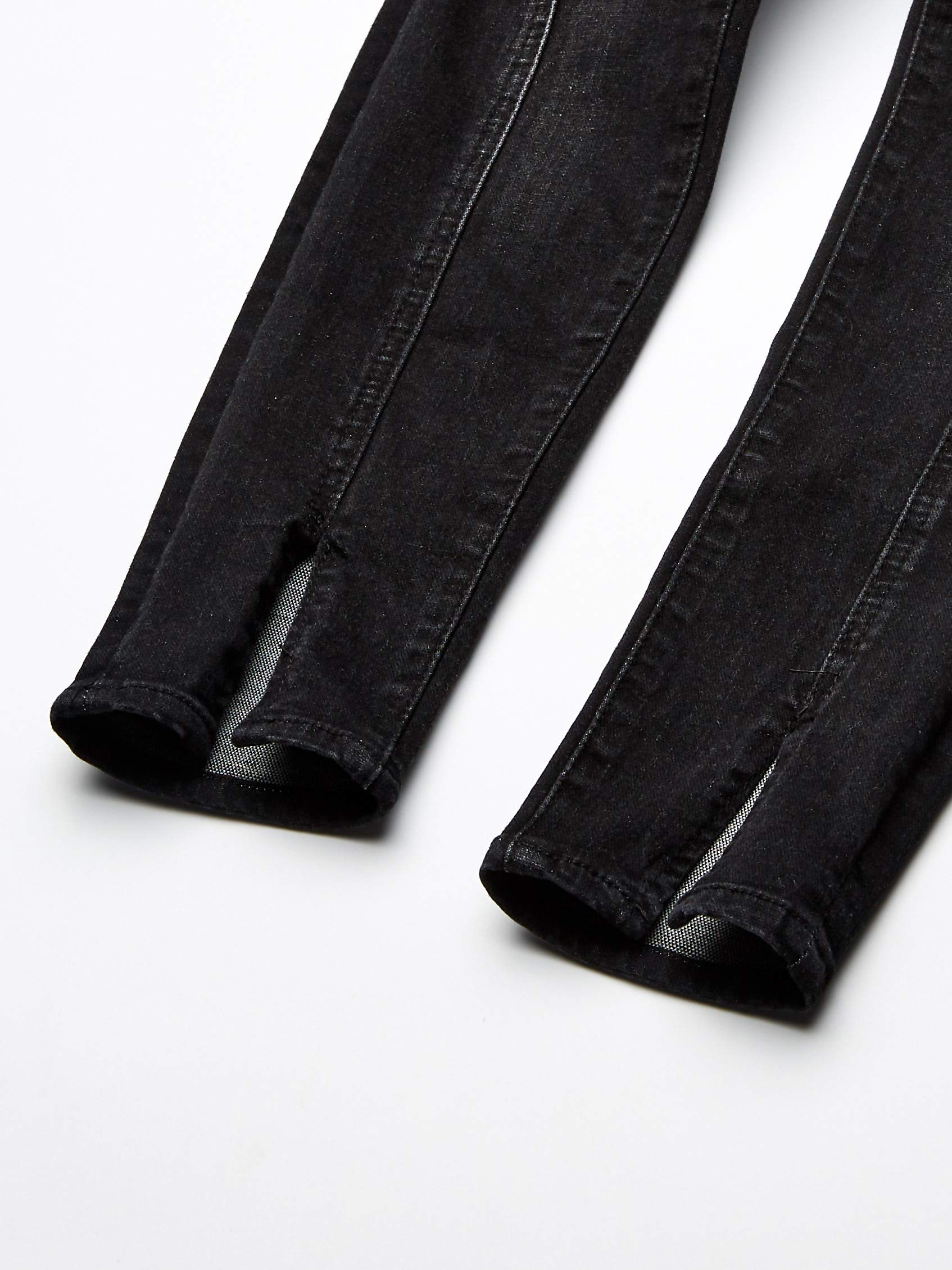 7 For All Mankind Kids Girls' Big Ankle Skinny Stretch Jean, Black Sands, 10 by 7 For All Mankind (Image #4)
