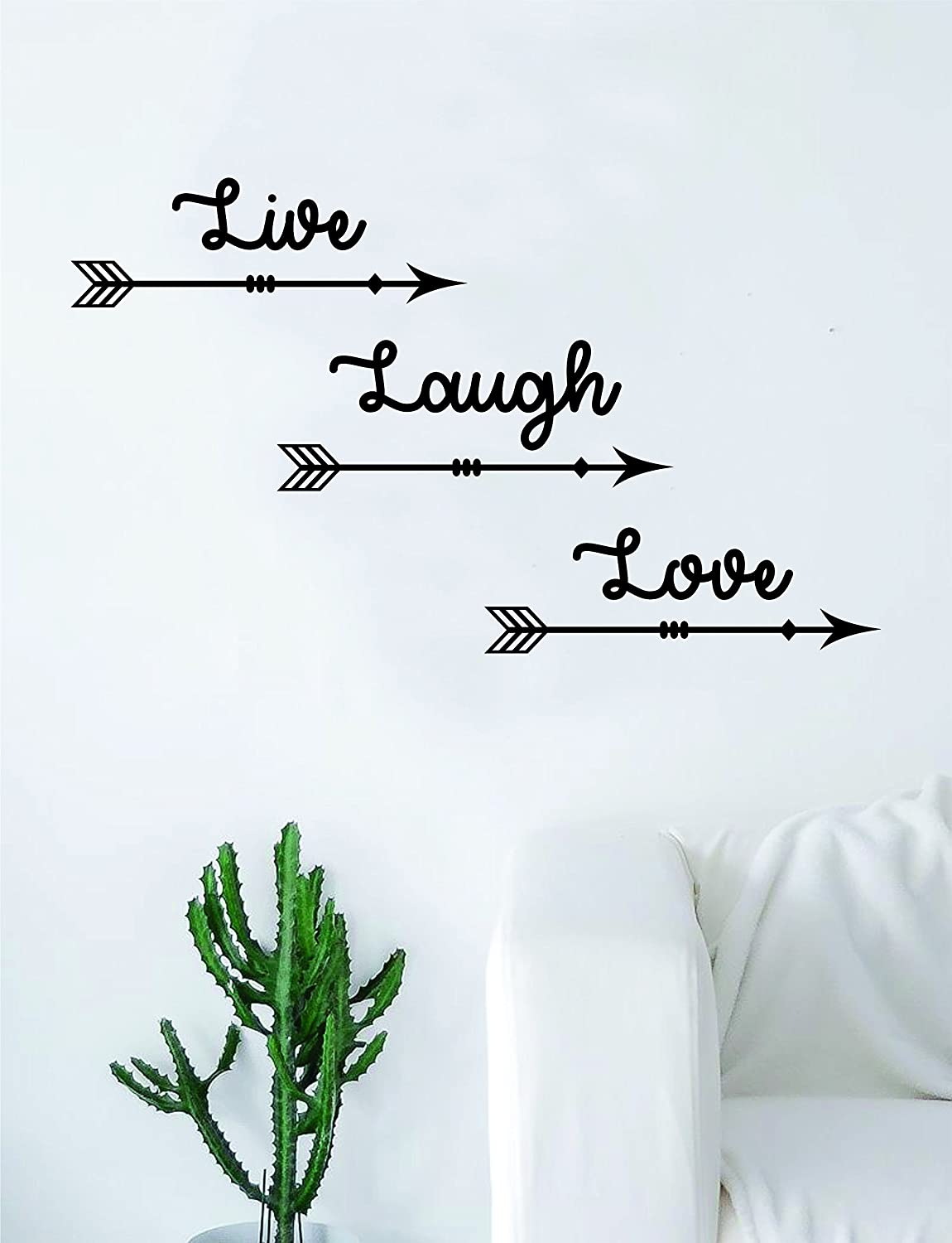 Live Laugh Love Arrows Quote Wall Decal Sticker Room Art Vinyl Home Decor Living Room Bedroom Inspirational Amazon Ca Home Kitchen