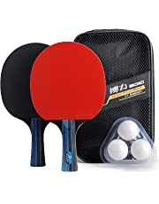 Training Table Tennis/Ping Pong Set - 2 Premium Paddles/Rackets/Bats, 3 Balls and 1 Carrying Case …