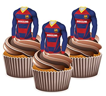 Barcelona Camisetas de Fútbol para tartas – comestibles función atril Up decoración, ...