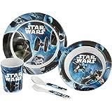 Lulabi Rogue One Star Wars Lot de 5pièces pour garçon, mélamine, Multicolore, 29x 22,5x 8,5cm