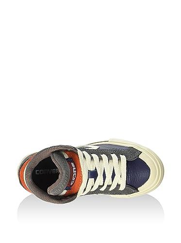 32143d1e0545 Converse Boys  Pro Blaze Hi Leather Suede Trainers Blue Dark Blue Grey   Amazon.co.uk  Shoes   Bags