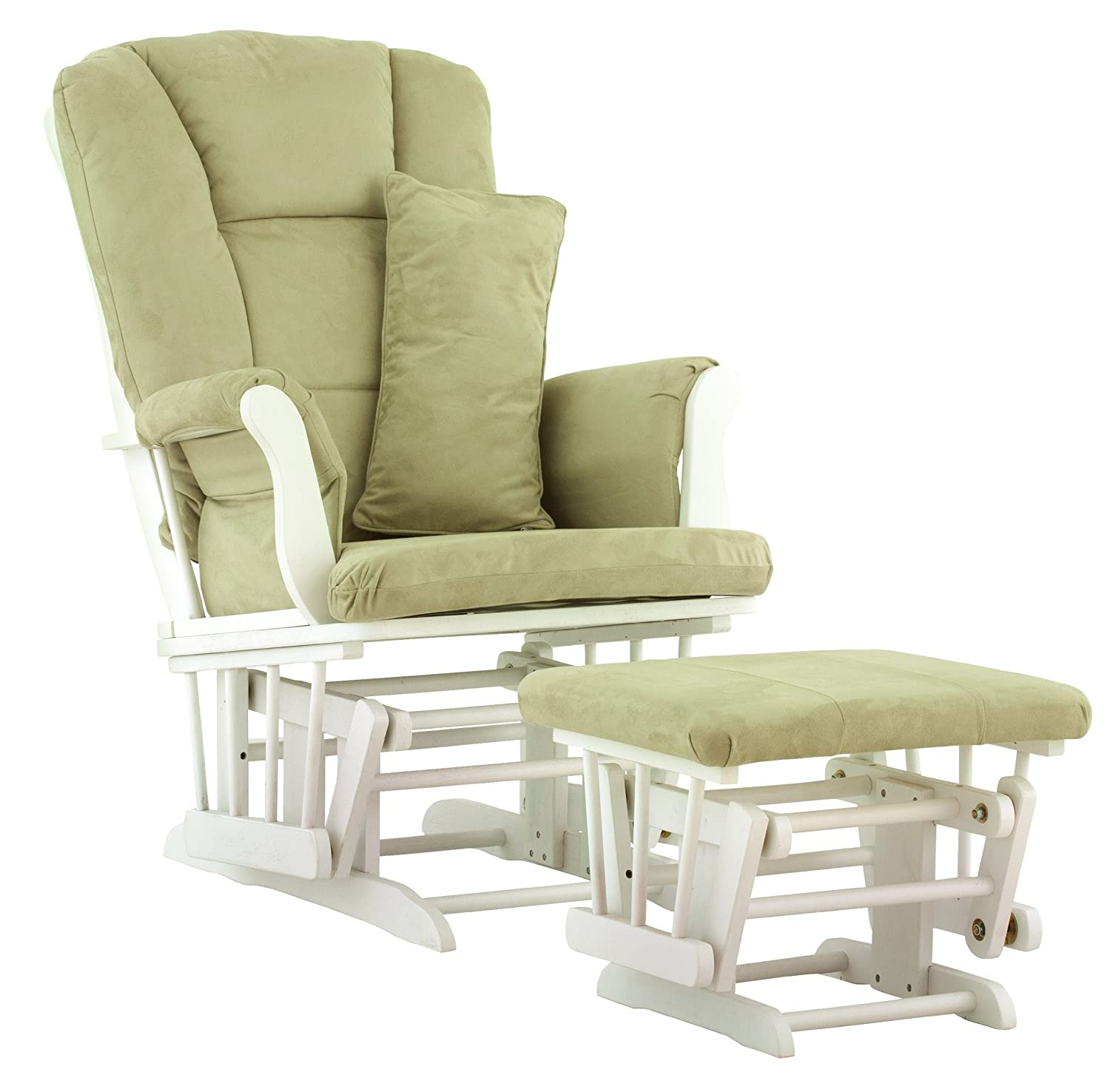 Delicieux Amazon.com: Stork Craft Tuscany Custom Glider And Ottoman With Free Lumbar  Pillow, White/Sage: Baby