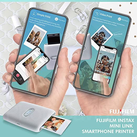 Fujifilm Instax Mini Link Impresora para Smartphone (blanco ceniza ...