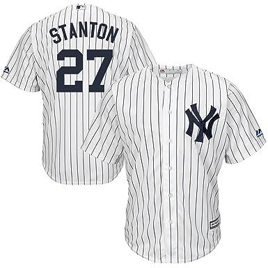 e9792bb0822 Majestic Giancarlo Stanton New York Yankees MLB Kids White Home Cool Base  Replica Jersey (Kids
