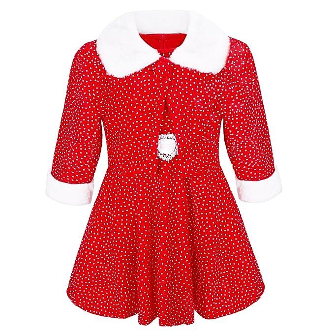 iEFiEL Conjunto de Vestido y Chaqueta de Navidad Fiesta para Niña Bebé Traje Disfraces de Princesa