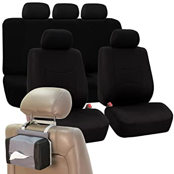 FH GROUP FB051115 Multifunctional Flat Cloth Seat Covers Airbag Compatible And Split