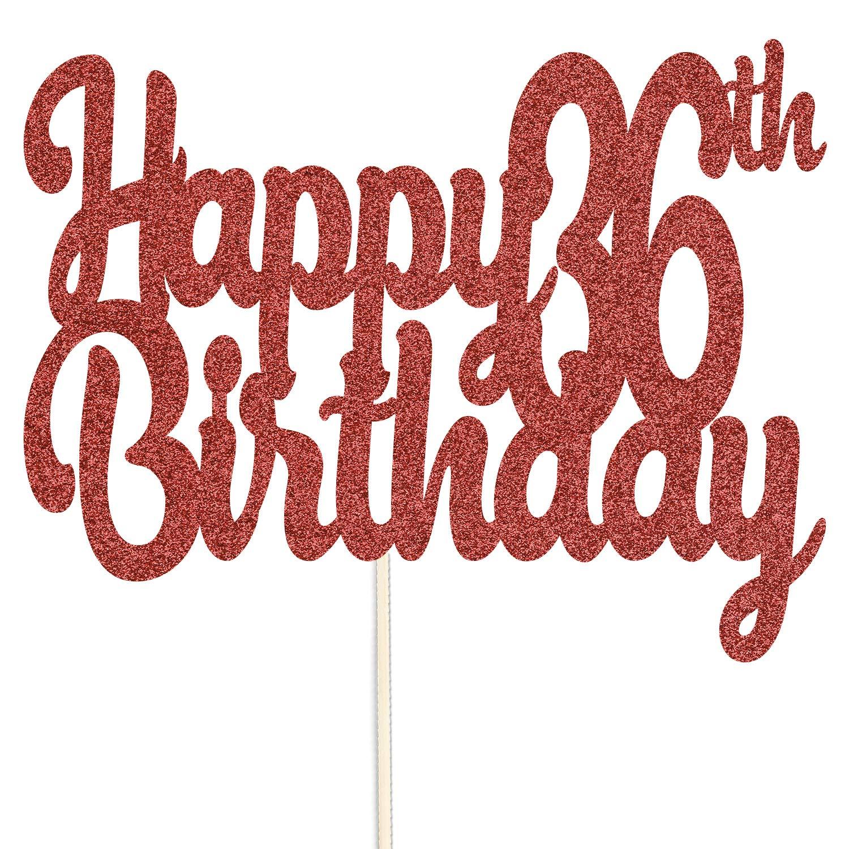 CustomIslandGifts Feliz 36 ° Cumpleaños Topper de Pastel de ...