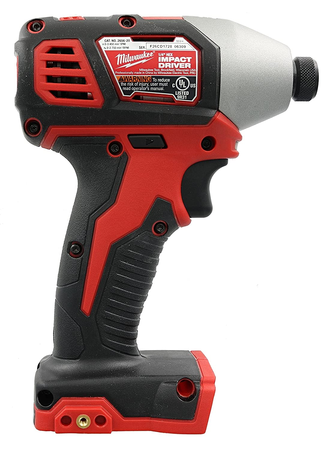 Milwaukee 2656-20 M18 18V 1/4 Inch Lithium Ion Hex Impact Driver with 1,  500 Inch Pounds of Torque and LED Lighting Array (Battery Not Included, ...