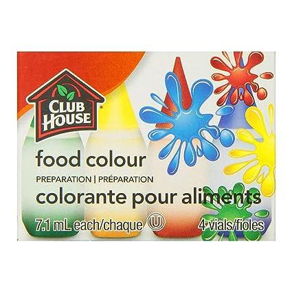 Amazon Com Club House Food Color Preparation Original 7 1ml 4 Vials Grocery Gourmet Food