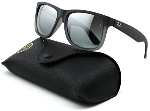dcc4279a868 Image Unavailable. Image not available for. Color  Ray-Ban RB4165 Justin  Unisex Rectangular Sunglasses ...