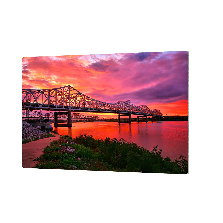 ArtWall Steve Ainsworths Bridges at Sunrise Artmetalz Aluminum Print 16 x 24
