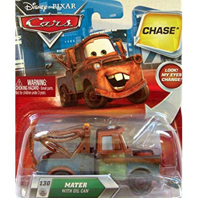 Disney / Pixar CARS TOON 155 Die Cast Car Mater with Oil Can Chase Piece!: Toys & Games