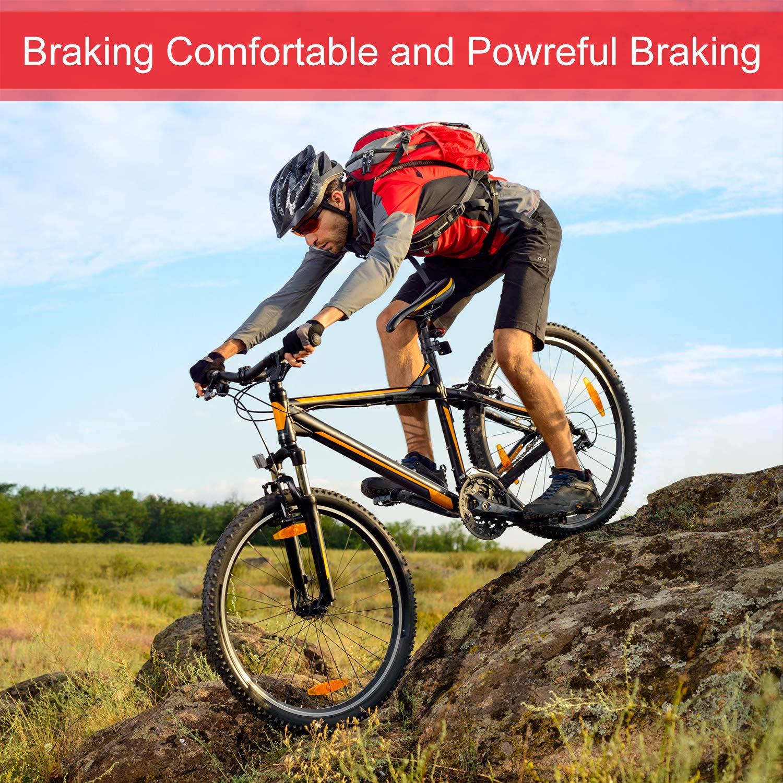 Zonon 4 Pairs Bike Brake Pads for TRP Tektro Shimano Deore Br-M575 M525 M515 T615 T675 M505 M495 M486 M485 M475 M465 M447 M446 M445 M416 M415 M395 M375 M315 M355 C601 C501s