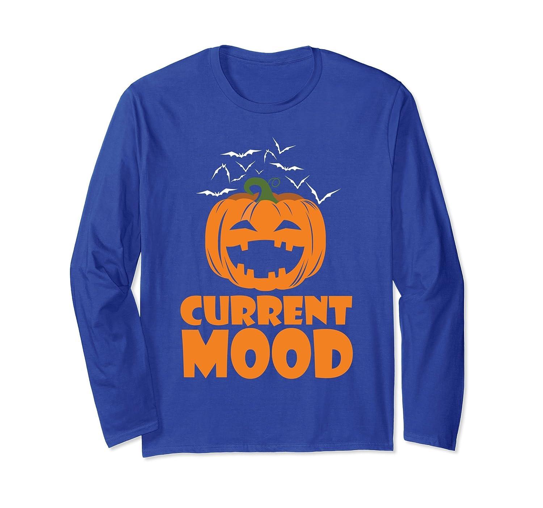 Current Mood Pumpkin Halloween Party Long Sleeve T-shirt-ln