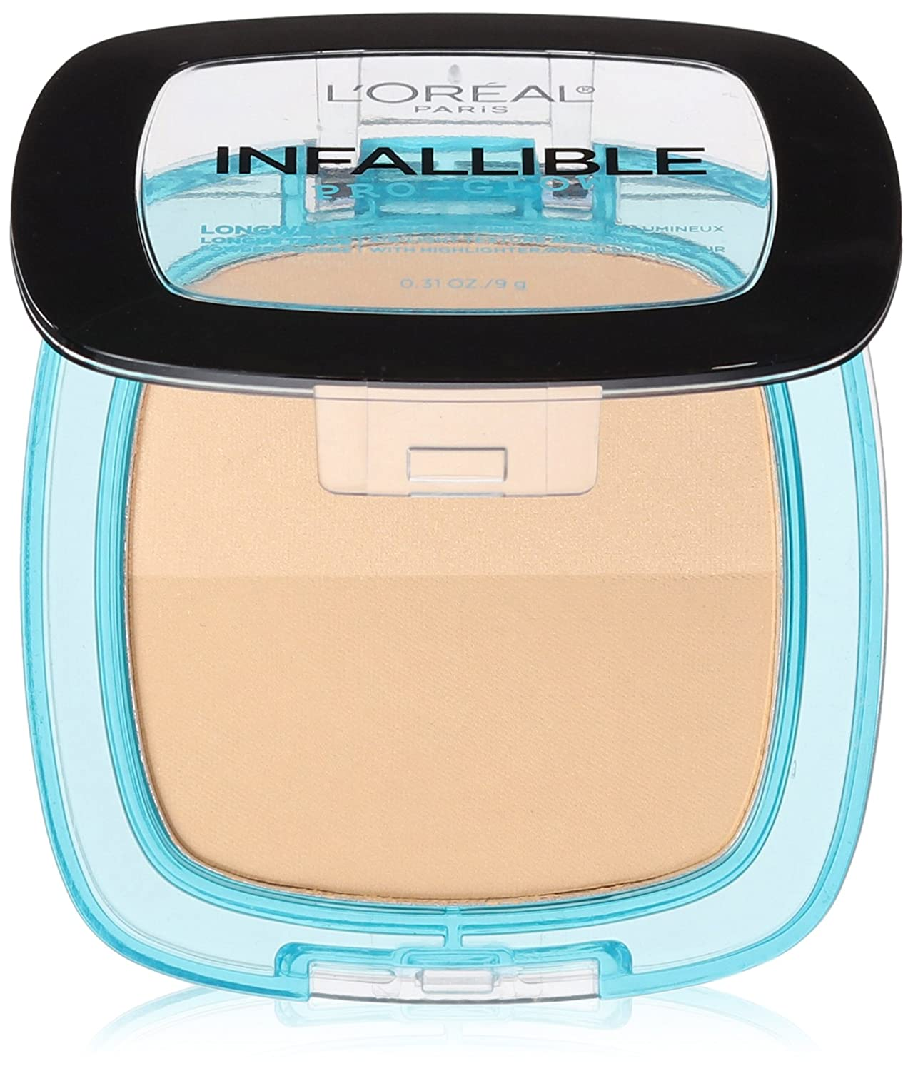 L'Oréal Paris Infallible Pro Glow Pressed Powder, Nude Beige, 0.31 oz.