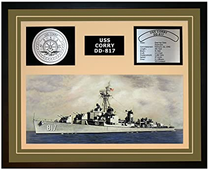 Amazoncom Navy Emporium Uss Corry Dd 817 Framed Navy Ship Display
