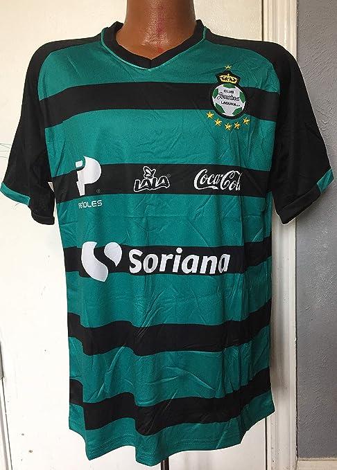 Amazon.com   Full 90 Club Santos Laguna Black Green GENERICA Jersey ... 384293630