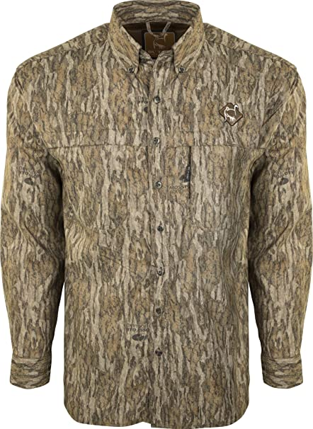 Ventless Mesh Back Shirt w//Spine Pad