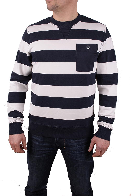 Timberland Hombre Sudadera Pullover Westfield River Breton - algodón, blanco/azul, % algodón % poliéster, hombre, M: Amazon.es: Ropa y accesorios