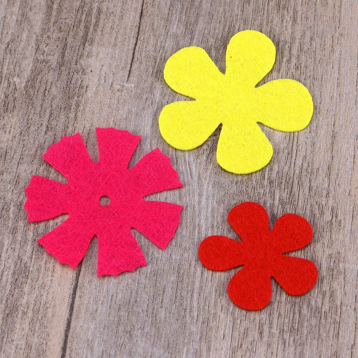 Zuf/ällige Farbe SUPVOX 150 St/ücke Filz Blumen DIY Kunst Handwerk Dekoration von Kleidung Taschen Schuhe