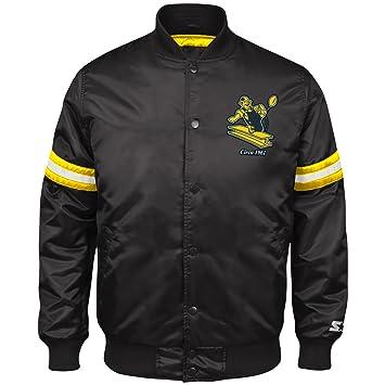 03637097d STARTER Men s Retro Satin Full Snap Jacket