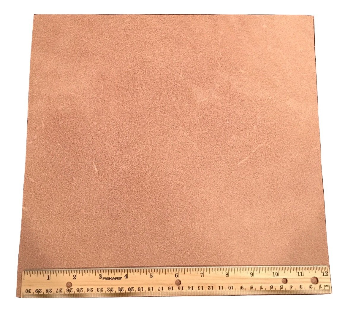 Leather Side Piece Veg Tan Split Medium Weight 12 X 12 Inches 1 Square Foot