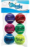 Grriggles Classic Dog Tennis Ball Toy, 2-1/2-Inch, 6-Pack