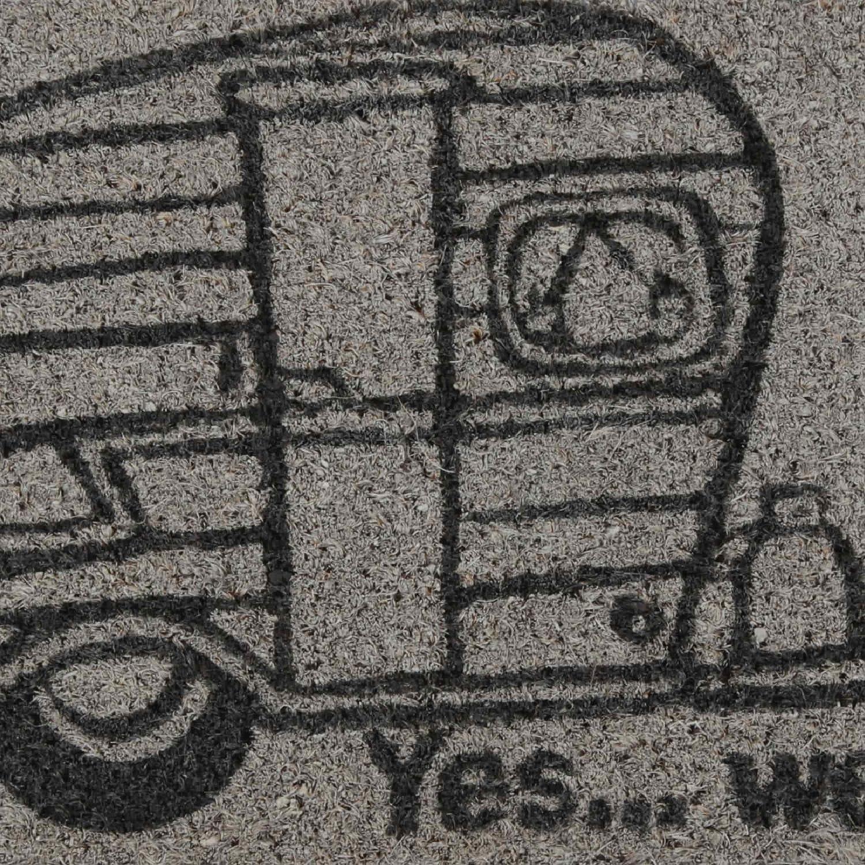 Wohnwagen Fu/ßmatte f/ür Trittstufe 25x50cm Wohnmobil Camping Kokosmatte Nadelfilz #11 T/ürmatte Kokos Camper 25x50 cm