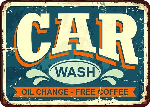 Oedim Matricula Decorativa Car Wash 30,00 x 21,00 cm | Decoración Pared | Aluminio 3 mm Resistente: Amazon.es: Hogar