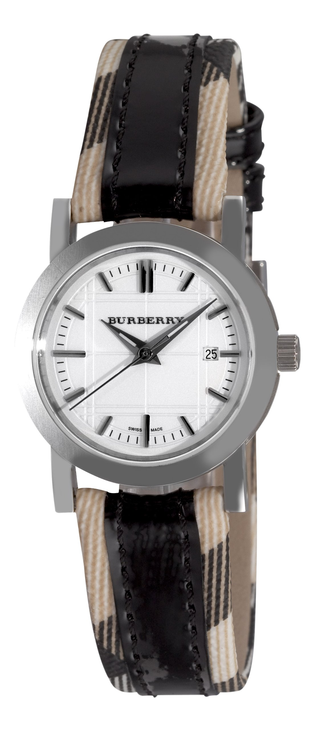 Burberry Women's BU1396 Round 3-Hand Date White Dial Watch by BURBERRY