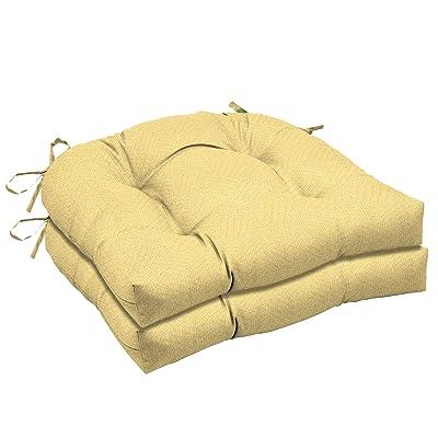 Arden Companies Arden Selections Shirt Texture Wicker Seat Cushion 2-Pack : Garden & Outdoor