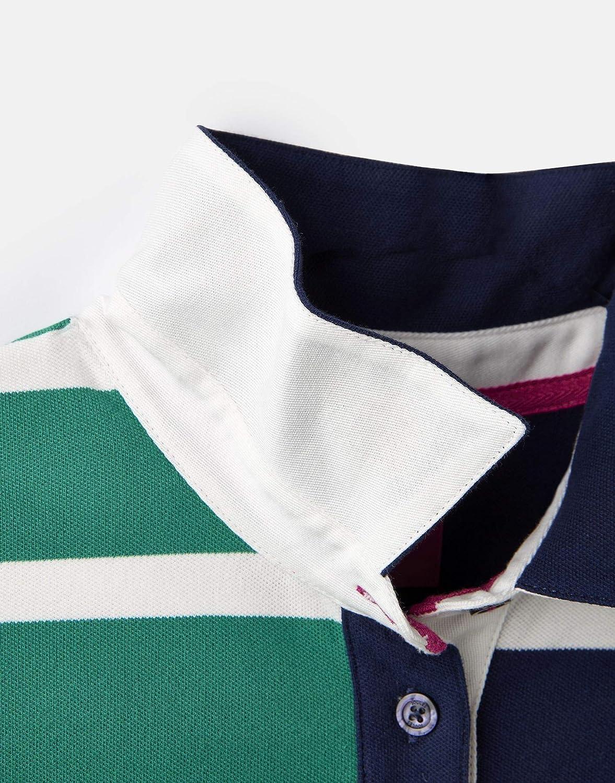 Joules Womens Vittoria Quartered Stripe Contrast Polo Shirt