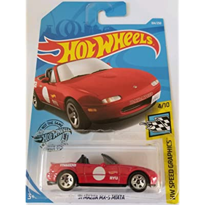 Hot Wheels 2020 Hw Speed Graphics '91 Mazda MX-5 Miata, 184/250 Red: Toys & Games