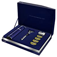 Gillette Fusion5 Proshield Chrome Razor Limited Edition Gift Pack with 4 Blade Refills, Shaving Gel + Razor Stand