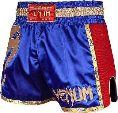 Venum Pantalones Cortos Para Muay Thai Giant Talla Xs Color Azul Rojo Y Dorado Amazon Es Ropa Y Accesorios