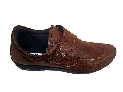 Arcopédico - L33H - Zapatos muy cómodos para hombre. Color: negro. Cierre con velcro. Doble soporte del arco. Se adaptan al pie. (45) dCFbuZhqYO