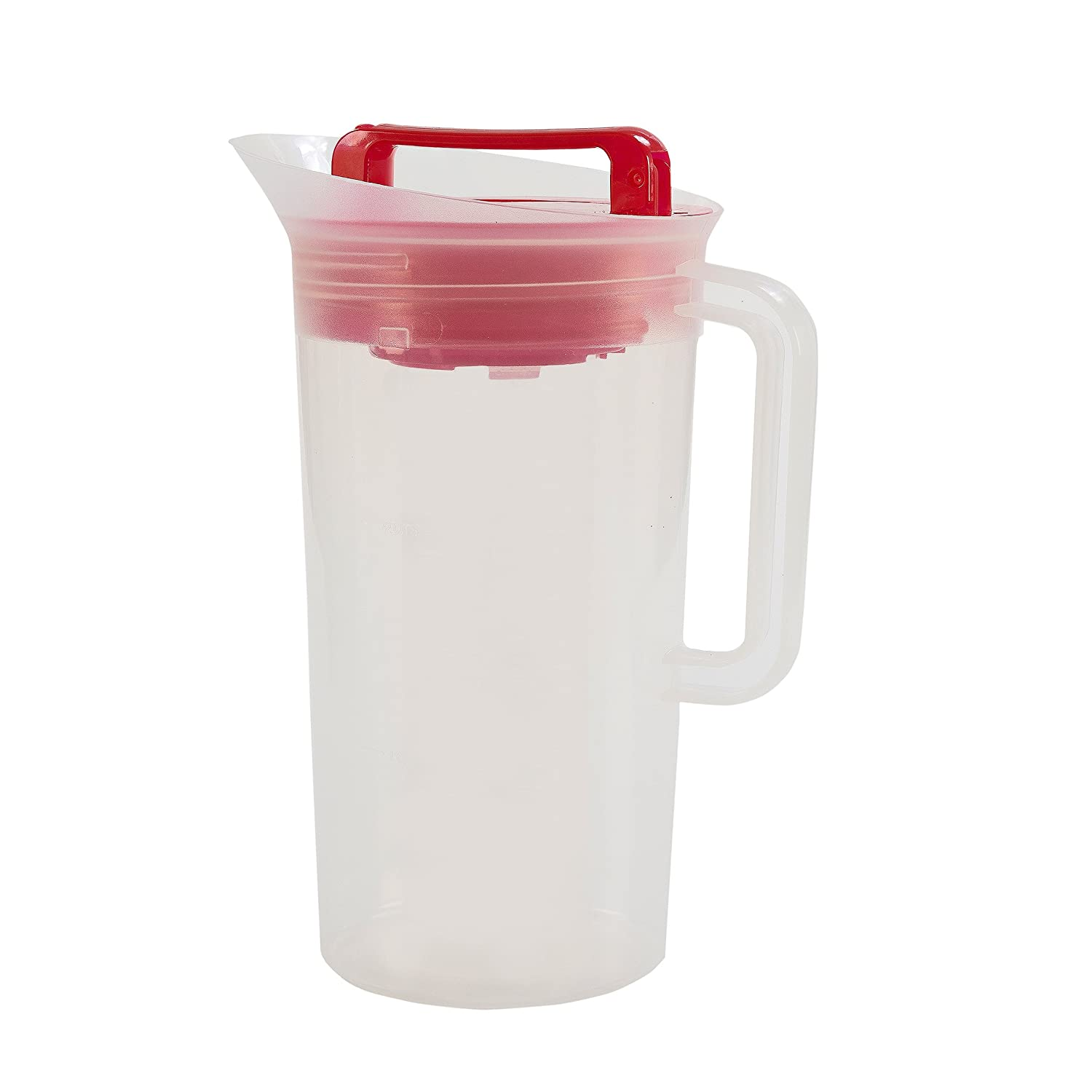 Primula TSIRE-3630 Today Shake and Infuse Pitcher, 8.2 x 6.4 x 11.1 inches Red